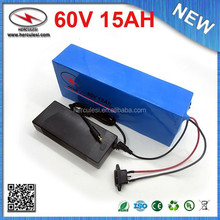 Wholesale & Retail 60V Lithium Battery 60V 15Ah Li ion Electric Bike Battery Bicycle Battery Scooter with PVC case 16S 15A BMS