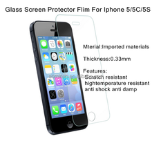 hot new products for 2015 anti-scratches tempered glass screen protector round edge 0.33MM Ultrathin For iPhone 5/5S/5C