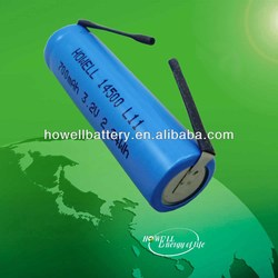 14500 LiFePO4 Rechargeable AA battery 3.2V 700mAh