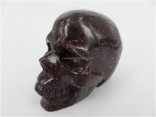 Natural Carved Blood Stone Crystal Skull ,Crystal Healing