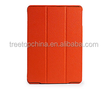 2014 Newest Litchi pattern Genuine leather ipad case