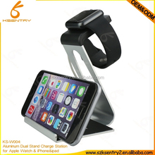 Multifunctional Desktop Stand Holder Aluminum Hold For ipad mini 2/3/4/5 iphone 6 plus and holder For Apple Watch 42mm 38mm