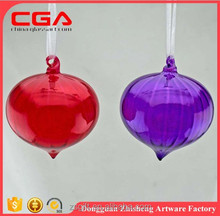 Decorative christmas ball,clear glass ball ornaments for christmas occasion