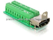 terminal blocks HDMI DVI DB D-Sub VGA USB male female connector