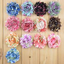 "2.5"" Wholesale shabby chiffon flower frayed shabby chic flowers,shabby rose trim,lovely rosette chiffon shabby flowers"