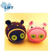 LMT-WZWW-262 New arrival cute mini pig 100% hand made sock toy