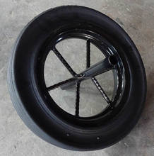top quality competitive price 14x4 wheel barrow solid rubber wheels