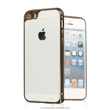Factory price aluminum bumper case phone case cover hybrid case for iPhone 5s