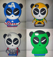 Cute 3d silicone phone case silicone animal shaped phone cases