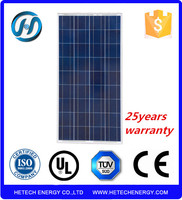Solar Panel Price list from china suppliers Poly 130w suntech solar panel price
