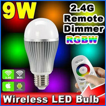 6W 9W E27 Iphone/Android wifi rgbw led bulb for decoration