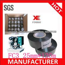 imprimir expiración fecha/lote numer/número de lote tipo tamaño 25mm*120m marca fineray fc3 Fecha Hot stamping cinta