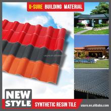 decorative roof / gold supplier carbon fiber roof tile / resins flat roof house plans