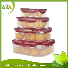 2015 hotsale 4 piece food clear plastic container