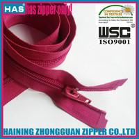 rose color 65cm/60cm many length open end nylon zipper bedding cover zippers