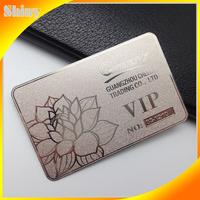 Custom design cheap metal silver card for membership card Vip card