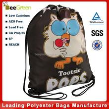 Customized full color printing design cheap nylon drawstring bag, nylon bag