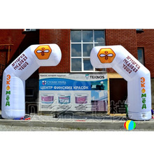 Custom free standing inflatable arch door with logos for advertising