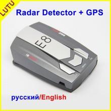 Wholesale E8 Car Radar Detectors Russia And English Language Vehicle Anti Police Radar Voice Safety Alert GPS Camera Speed Limit