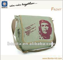 Fashion cotton shoulder bag,canvas messenger bags,cotton school bag