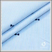 blue stripe flocking fabric