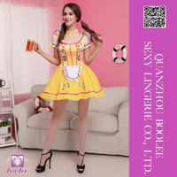 Latest popular hot Spandex Short Sleeves Beer Girl Cosplay Profession Costumes Women's Carnival Costume Sexy Beer Girl Costume