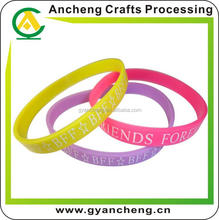 free design fashion silicone bracelet with negative ion for advertising gifts
