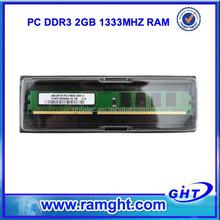 Tested best price ETT chips GHT 1333D3N9/2G 2gb value ram ddr3 1333 mhz