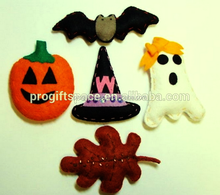 Fashion hot sales China product fabric hat/bat/pumpkin/ghost craft gifts wholesale felt handmade 2015 new Halloween decorations