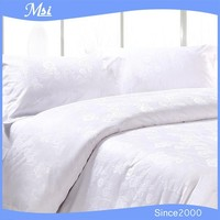 100% Cotton White Jacquard Hotel Bed Linen/Bedding Set/Bed Sheets