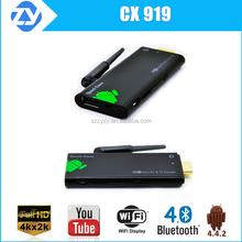 CX919 KODI 4k quad core rk3288 android smart tv stick/dongle mini pc hdmi 2.0 USB dongle