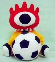 Stuffed micro bo control plush football player toy