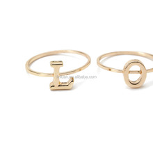 Sweet combination of letters love finger ring