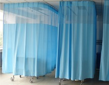 China disposable hospital cubicle curtain, antibacterial hospital curtain