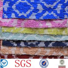 yarn dyed slub boucle woven jacquard fabric in poly cotton