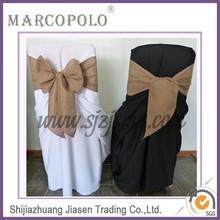 Fancy banquet linen chair sash for sale/ fashion new design burlap banquet chair sashes