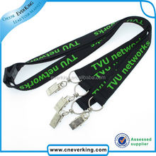 custom polyester lanyard with clear pvc id card holder for buyer request