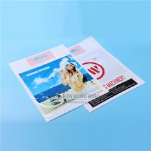 Custom design ldpe die cut shopping plastic bag