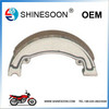 Good quality golden color iron material motorcycle brake shoe for motorcycle parts
