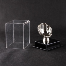 Crystal showcase clear acrylic golf ball display cabinet