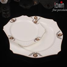 new bone china square plate new designs dinnerware
