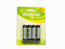 R6 dry 1.5v aa size battery with blister packing for clock
