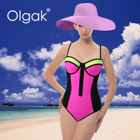 Olgak 2016Super High Quality Sexy Woman Neorpene One Piece Swimsuit