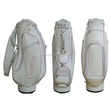 GBS-32 Custom White golf bags China manufacturer custom golf bag