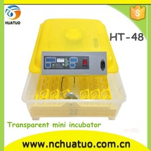 Chicken poultry Incubator/fish egg incubator 48 small egg hatchery machine