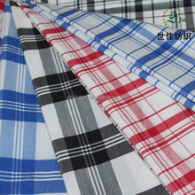 big check plain woven polyester fabric textile for garment