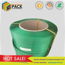 1908mm green polyester strap aluminum ingots plastic packing strap