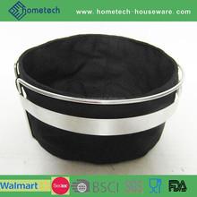 EU style 100% cotton LFGB round stainless steel basket