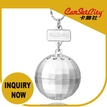 (CS-27856) CarSetCity Luxary Silver Musk Fragrance Discoball Auto Perfume Car Hang Air Freshener