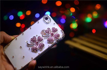 Transparent cover white four leaf clover plastic phone case for iPhone